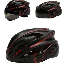 Helm Sepeda Cycling Bike Helmet Visor Removable, Helm Sepeda Gowes NEW