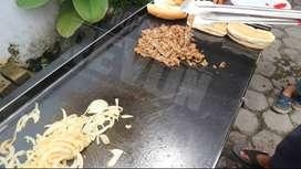 kompor roti bakar burger tumisan besi hitam potable Padang