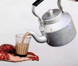 चाय बनाने के लिए होटल में कारीगर, हेल्पर की आवश्कता है सैलरी रोजाना.
