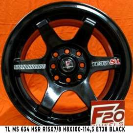 Velg Mobil Lampung TL MS 634 HSR R15X78 H8X100-1143 ET38 BLACK