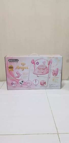 Babyelle Automatic Bouncer Swing BE 33006 - Warna Pink