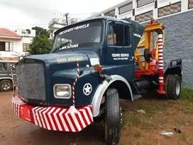 Recovery lorry crane