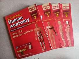 Anatomy B D Chaurasia Volume 1,2,3,4