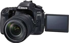Canon EOS 80D 24.2MP Digital SLR Camera with Lance, memory card etc.