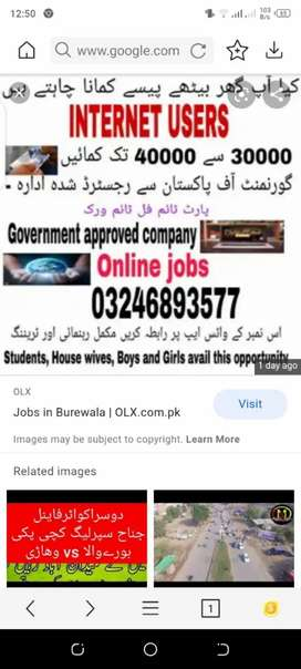 Online job for advertisement male and female