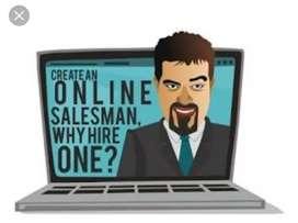 Online sales man job through WhatsApp