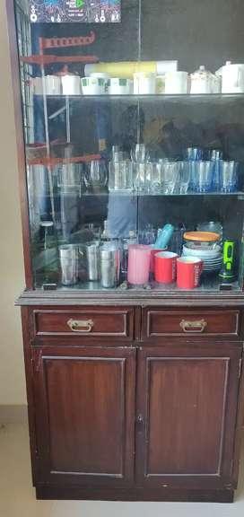 Glass crocker cabinet