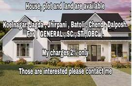 All types of houses , land , plot are available