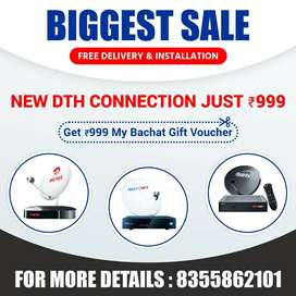 Tata Sky Airtel DishTV New Connection SALE Price Limited Time Offer