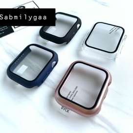 Glass+case For Apple Watch series 6 5 4 SE iWatch Case Screen Protecto