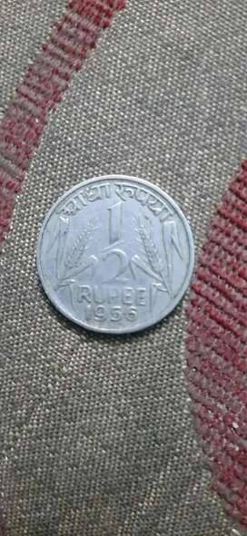 1956 indian coin