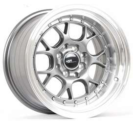 Velg Racing HSR wheel R15 grey celong cicilan krt kredit