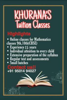 Maths classes online and offine