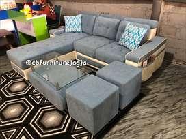 ready stok sofa tamu L minimalis
