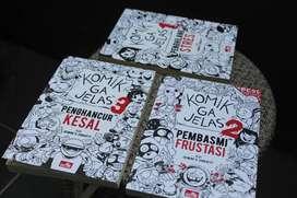 Komik Ga Jelas, Volume 1,2 dan 3 (Beserta Tanda Tangan Author-nya)
