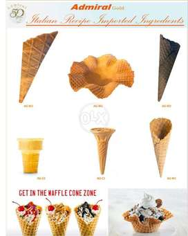 Waffle cones at wholesale