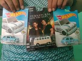 Hotwheels Morris Mini & Greenlight Supernatural VW