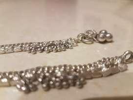 Chandi payal leg chain silver 42 grams