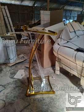 Mimbar Mushola Minimalis Mimbar Acrylic Stainless Gold 23