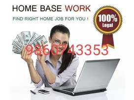 . Part & Full Time& Home based Internet Work & Earn 300 rs daily. Jobs