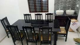 NEW HIGH QUALITY 6 SEATER WOODEN DINING TABLE SETS. CALL NOW.