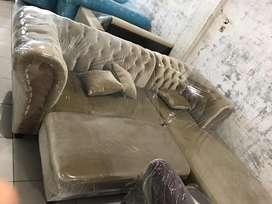 Sofa sudut baldu TEU