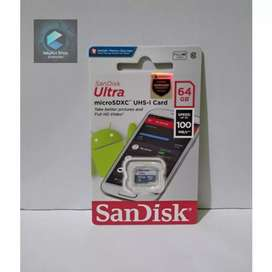 SANDISK ULTRA MICRO SD 64GB SPEED 100 MBPS NON ADAPTER