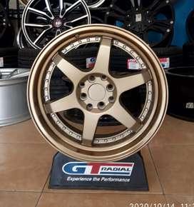 Rotiform bronze velg ring 17x7.5/8.5 et35/40 bisa untuk Avanza Etios