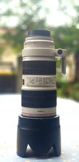 Canon IS II 70 mm - 200 mm EF F 2.8 in good Condition For DSLR Cameras