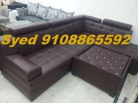 Top design new l shape fabric corner sofa 3 year warranty Cal VB 15