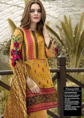 NM MUSTARD UNTITCHED WHOLESALE LAWN SUIT.