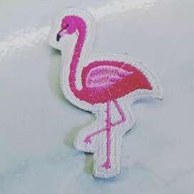 Emblem patch bordir flaminggo