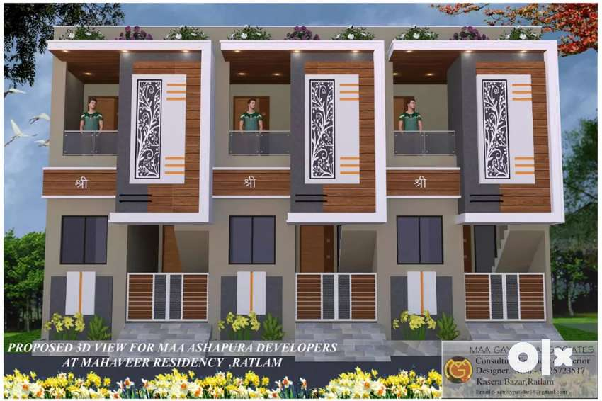 Great location house near by mhow road only 100 mtr distance 0