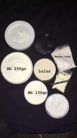 HBwhitening100gr/250gr, lulur whitening,susu bubuk whtening,msker body