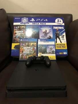 PS 4 Slim 1 Tb Mega Pack Pemakaian 2 bulan