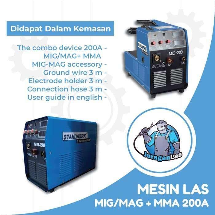 Stahlwerk MIG-200E Mesin Las DC Co2 / Mig / Mag 200A 0