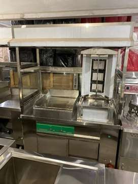 Shawarma Counter with hot Plate we deal pizza oven deep fryer etc
