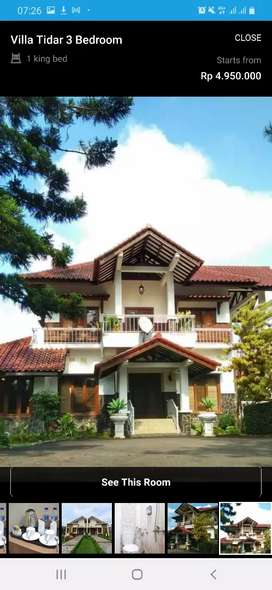 Di sewakan hotel , cottage & villa