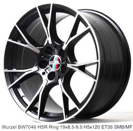 velg racing WURZEL BW7046 HSR R19X85/95 H5X120 ET35 SMBMF