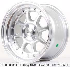 Velg racing Murah SC-03 8003 HSR Ring 16 Silver Polish