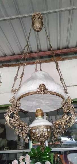 Lampu gantung hias klasik antik motif singa