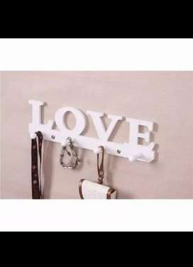 rak gantungan dinding vintage love 2pcs