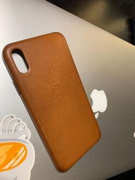 Original iPhone XS Max Leather Case - Saddle Brown
