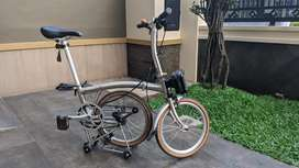 Sepeda lipat 3sixty 360 electric chrome