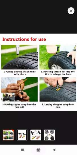 Rs. 500 -43% | Emergency Safety Delicate Tubeless Tire Tyre Puncture P
