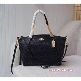 Coach Small Kelsey Chain Satchel In Signature Leather - ORIGINAL 100%