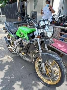 Kawasaki ninja ss 2012 hijau full variasi