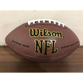 Bola Sepak wilson Rugby NFL American Ukuran 9 dengan Inflator H1