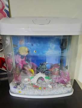 Great condition Aquarium with functional LED & electric pump for sale
