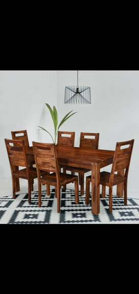 Dining Set-6 Seater in Solid Sheesham wood. Brand new PepperF Piece